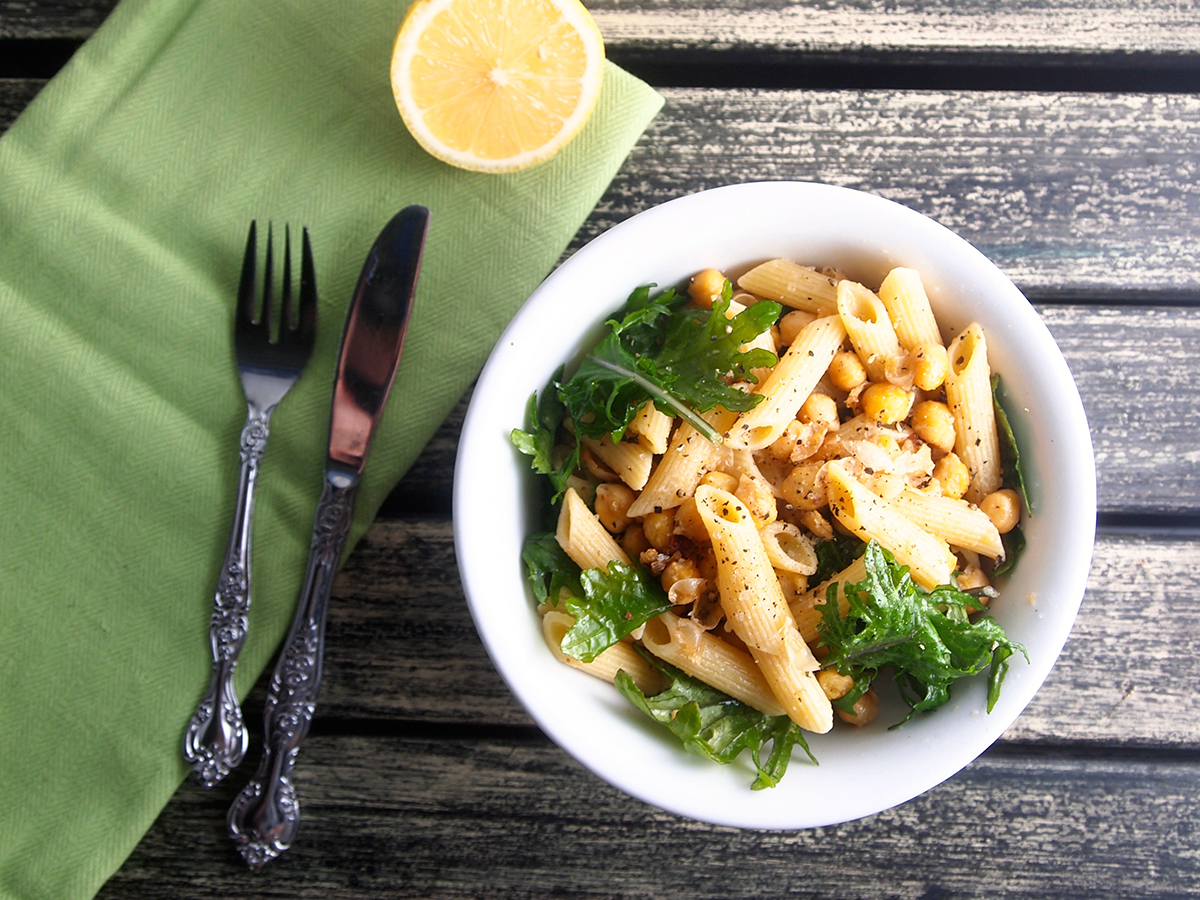 Kale, Chickpea and Lemon Pasta
