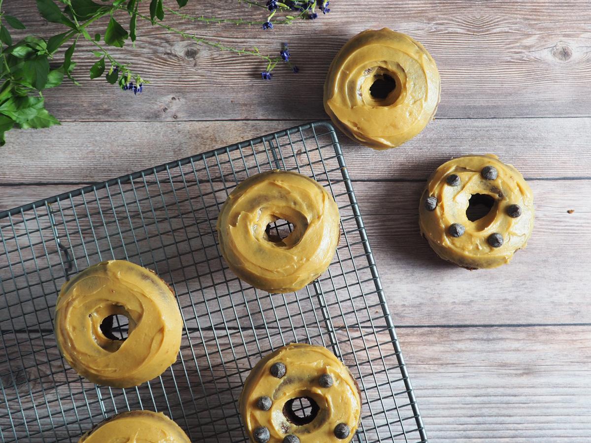 Chocolate PB Donuts