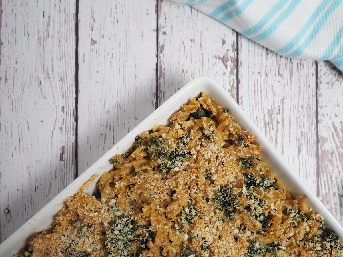 Creamy Kale Pasta Bake
