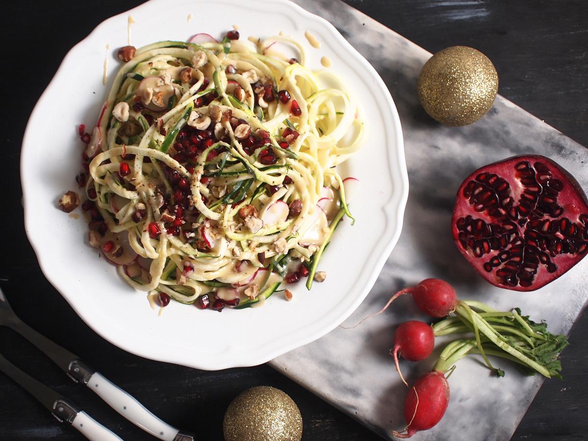 Zucchini Pomegranate Salad