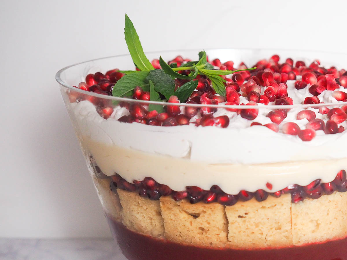Pomegranate Trifle