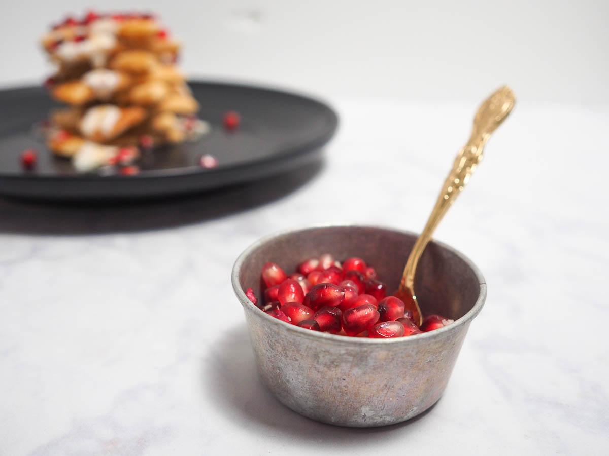 Pomegranate Waffles