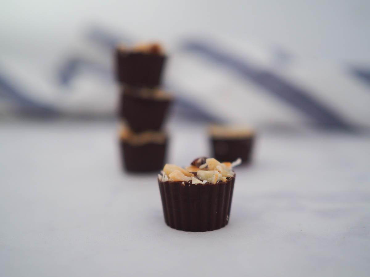 2 Ingredient Choc Hazelnut Cups Like A Vegan